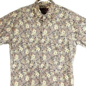 Tori Richard Mens Floral Button Up Large Shirt